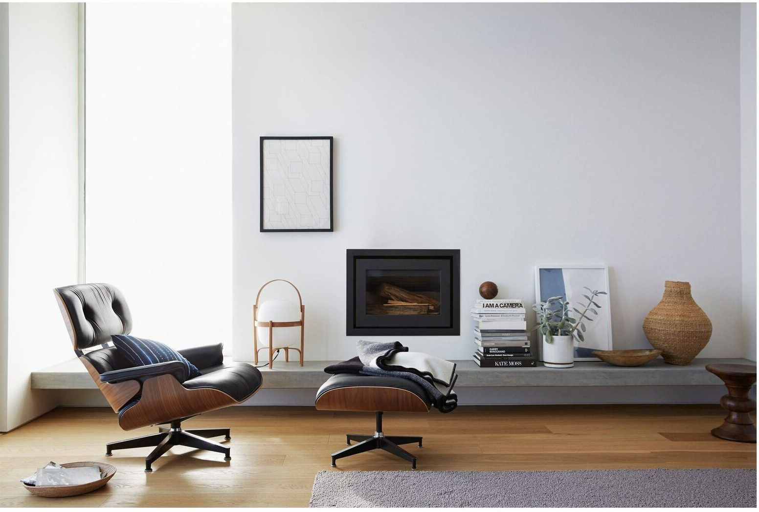 buy eames co and uk vitra lounge ottoman chair the black product nest all at